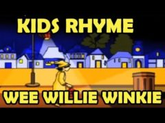 Wee Willie Winkie Nursery Rhymes Video with lyrics | Baby activities Animation