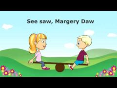 Seesaw Margery Daw Nursery Rhyme Videos with Lyrics   See-Saw, up & down Free Youtube Video