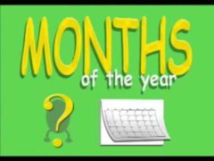 Months Of The Year Song Video With Lyrics for Kids | learning Months preschool