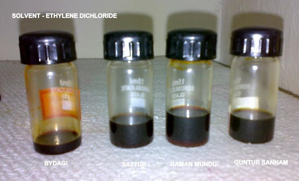Samples of oleoresin